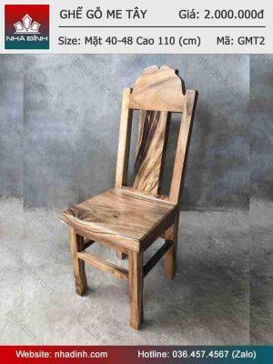 Ghế gỗ Me Tây có tựa lưng